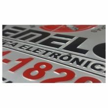 Detalhes do produto Placas em Alumínio - Relevo por Repuxo