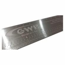Detalhes do produto Régua em Aço Inox - Relevo por Corrosão Sem Pintura