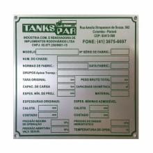 Detalhes do produto Placas em Alumínio - Relevo por Corrosão