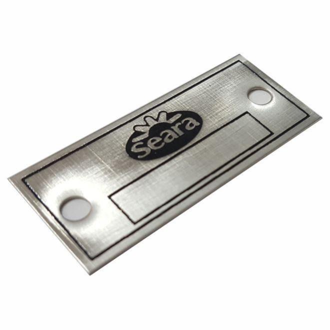 Etiqueta em Aço Inox