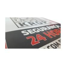 Detalhes do produto Placas Para Segurança Patrimonial - Relevo por Corrosão