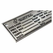 Detalhes do produto Etiqueta em Aço Inox