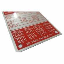 Detalhes do produto Etiquetas para Equipamentos e Motores Elétricos