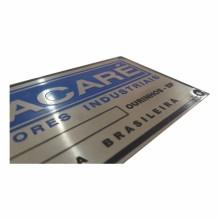 Detalhes do produto Placas em Aço Inox